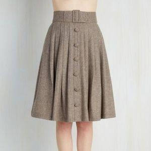 ModCloth Intern of Fate Wool Retro Skirt